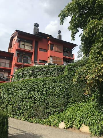 Apartament amb jardí a 5 minuts a peu del centre.
