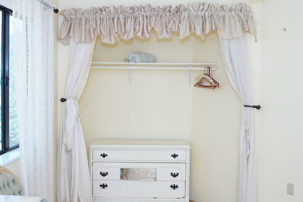 Guest closet and dresser