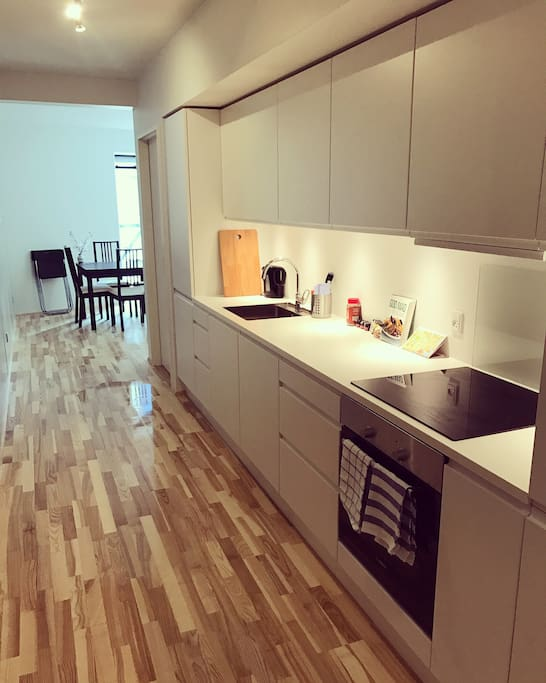 New kitchen with dishwasher and everything you need