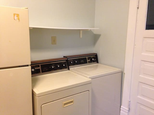 Full kitchen includes washer and dryer