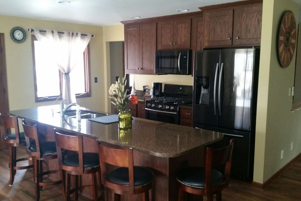 Just  remodeled kitchen. Brand new appliances