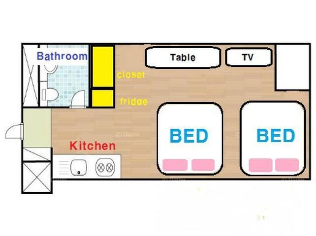 Plan of the studio