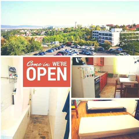 Apt in the city centre with view + free WIFI - Veszprém - Wohnung