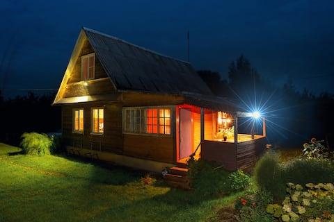 Дача 115 м² с русской баней на дровах