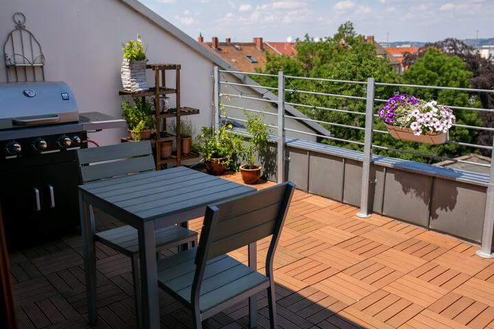 Wohnung mit Dachterrasse Dresden Mitte