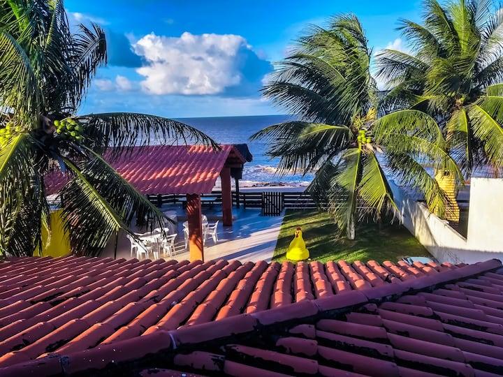 Casa à beira-mar, c/piscina e WI FI em Pitimbu/PB