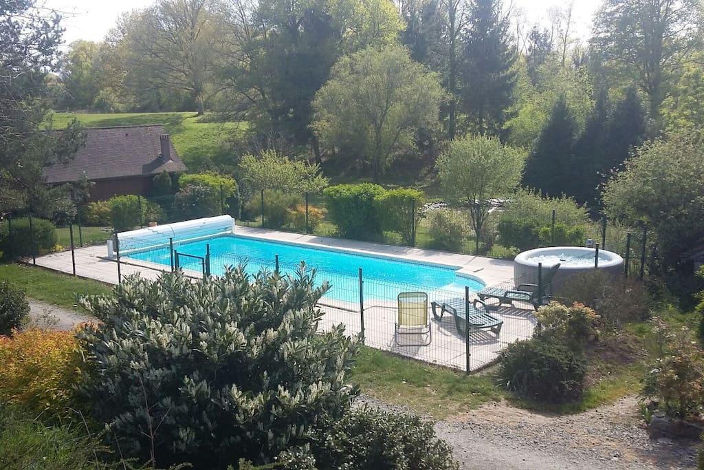 Chalet avec sa piscine priv e chalets louer savignac - Chalet avec piscine privee ...