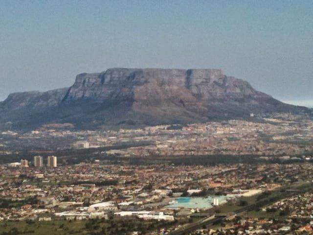 View of Table Mountain from local Tygerberg Hills Nature reserve...3 minutes drive away.