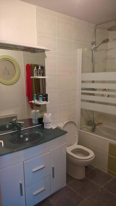 salle de bain (en haut)