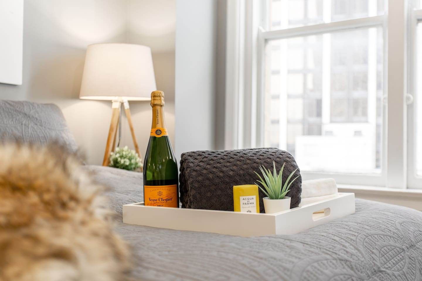Veuve can be organized for guests upon request