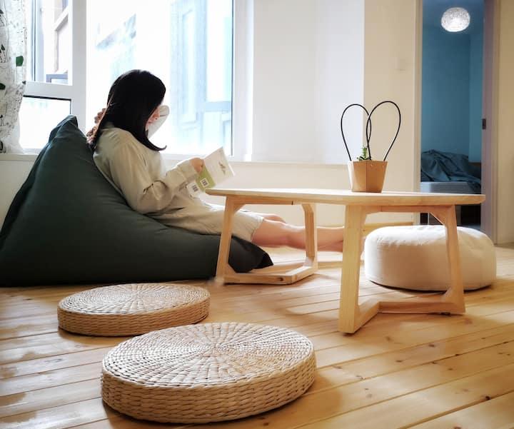 Green's单人间   日式原木风/ 温馨简约/绿色环保/读书发呆   近软件园、k11、光谷广场