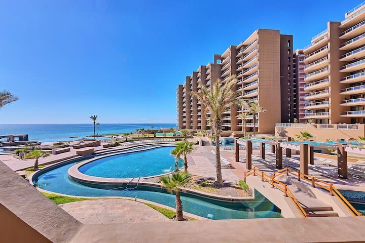 Las Palomas Ground Floor Beach Condo - HUGE Patio!