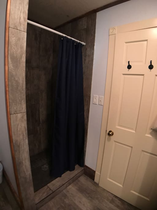 Shower in private bath
