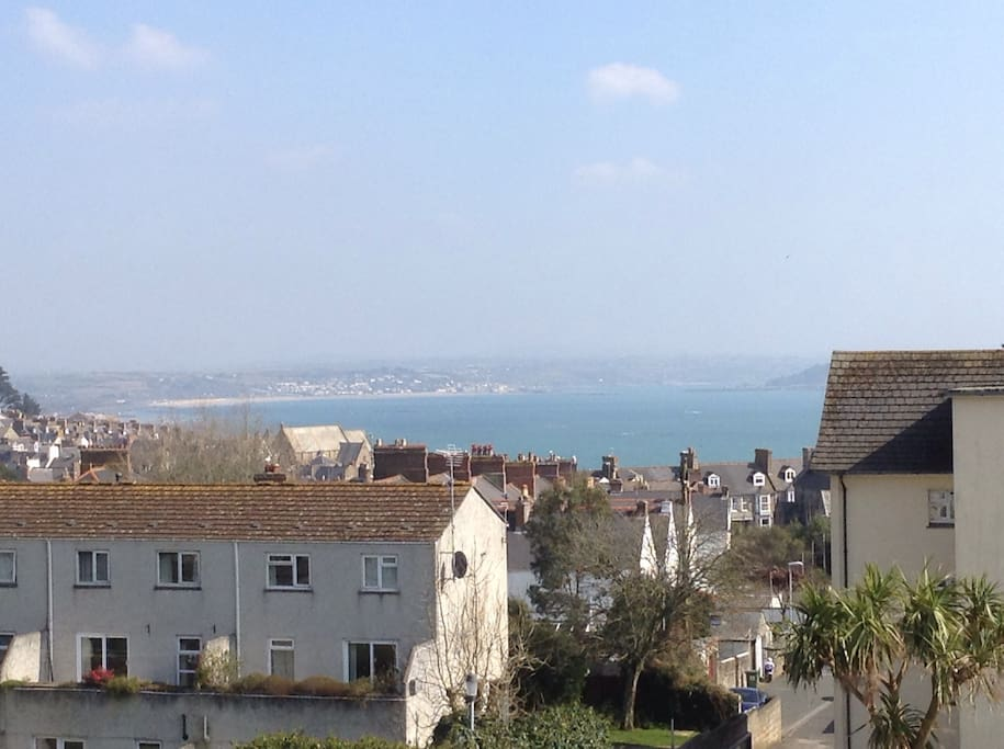 Ever changing sea view (including glimpse of St Michael's Mount)