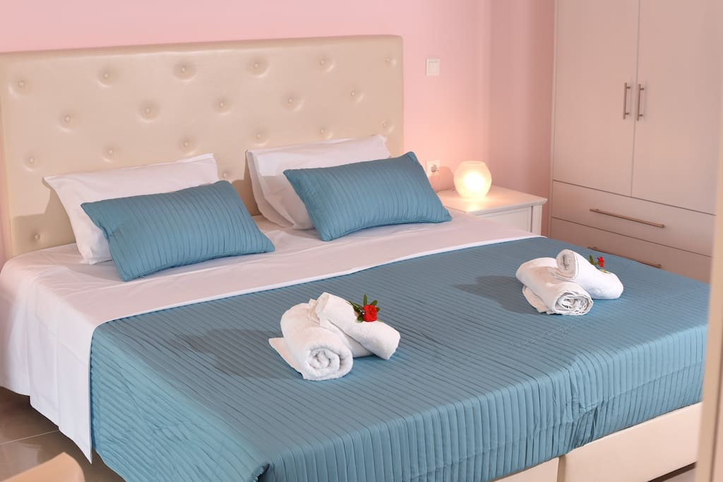 Large, comfortable and romantic bed!