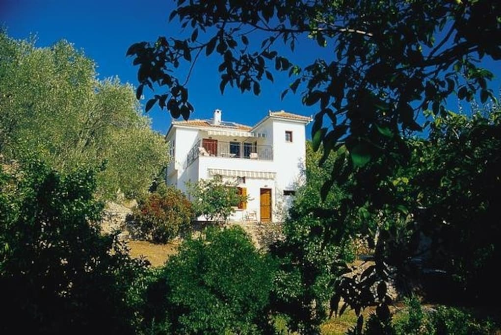 Aphroula's House before the trees grew up.