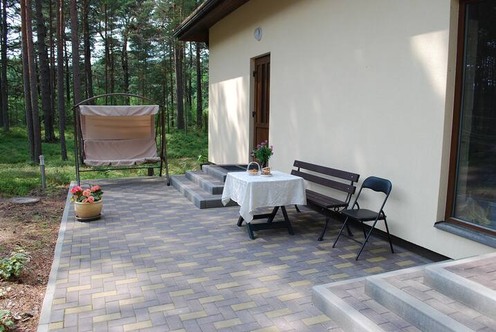 Terrace, entrance
