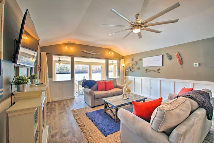 NEW! Riverside Home w/ Private Dock < 8 Mi to Dtwn