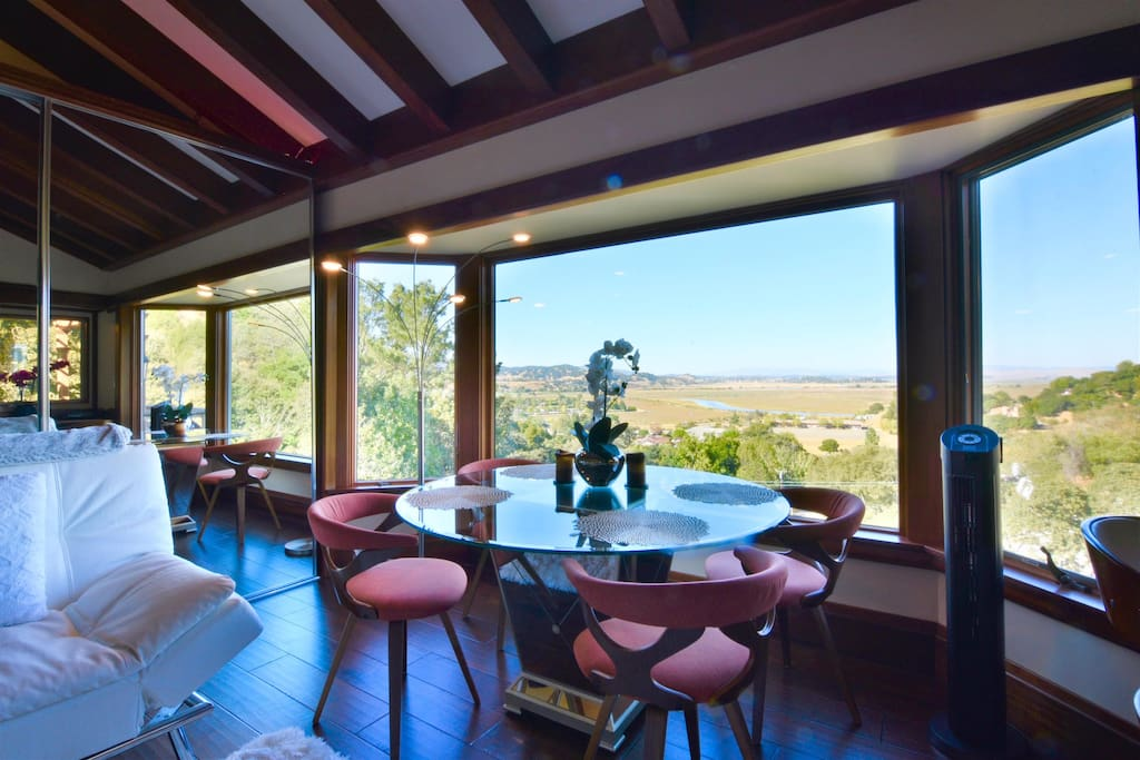 Dining Table with Views of the Valley