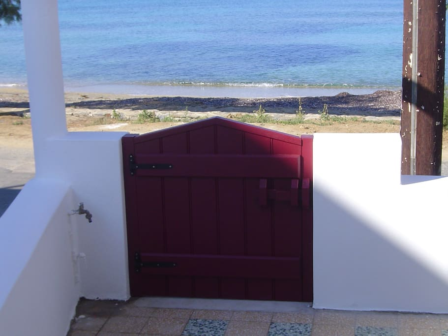 the outside door, view from the front veranda