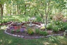 View of the garden from your private deck