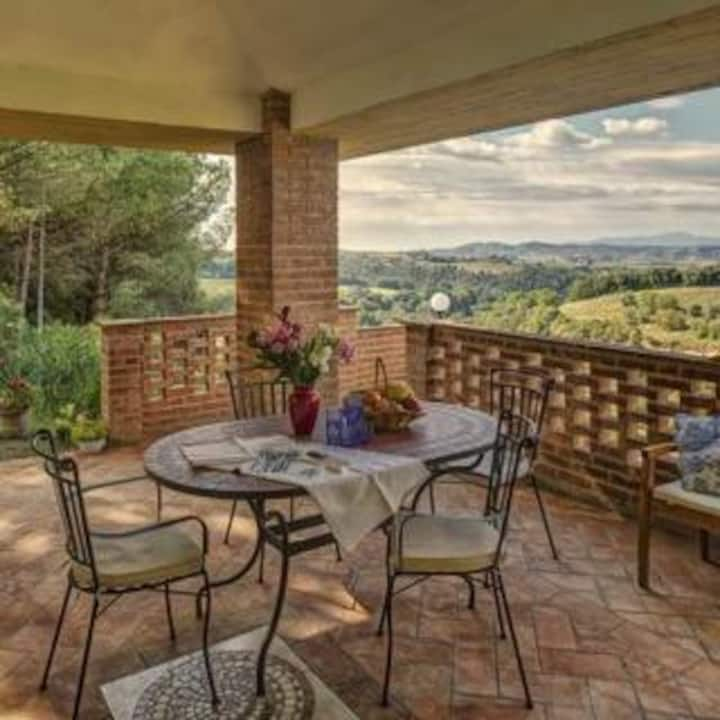 Apartment & pool close to Pisa, Florence, Volterra