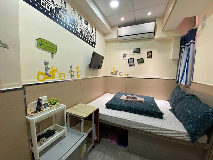 #9 Cozy Double Room in Tsim Sha Tsui