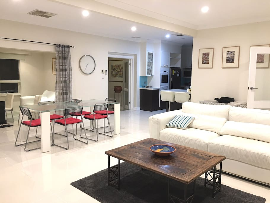 First open plan living space