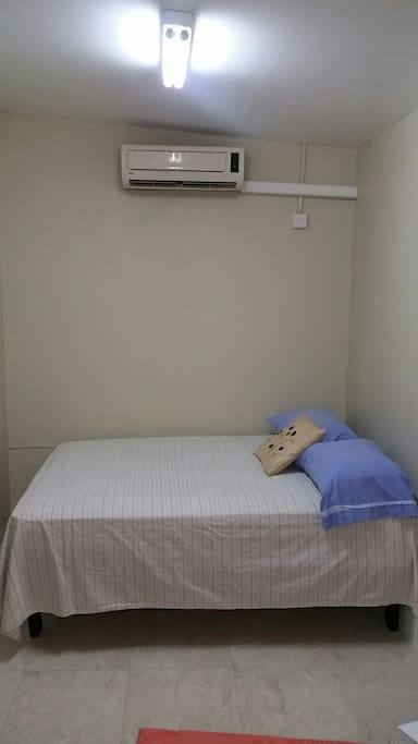 Comfortable double bed with a/c