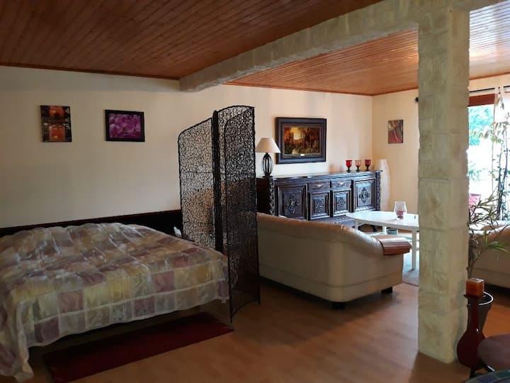 Appartement cosy près aéroport - Navette possible