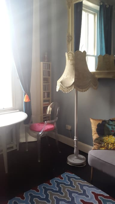 Big window, brightness, beautiful decoration, storage