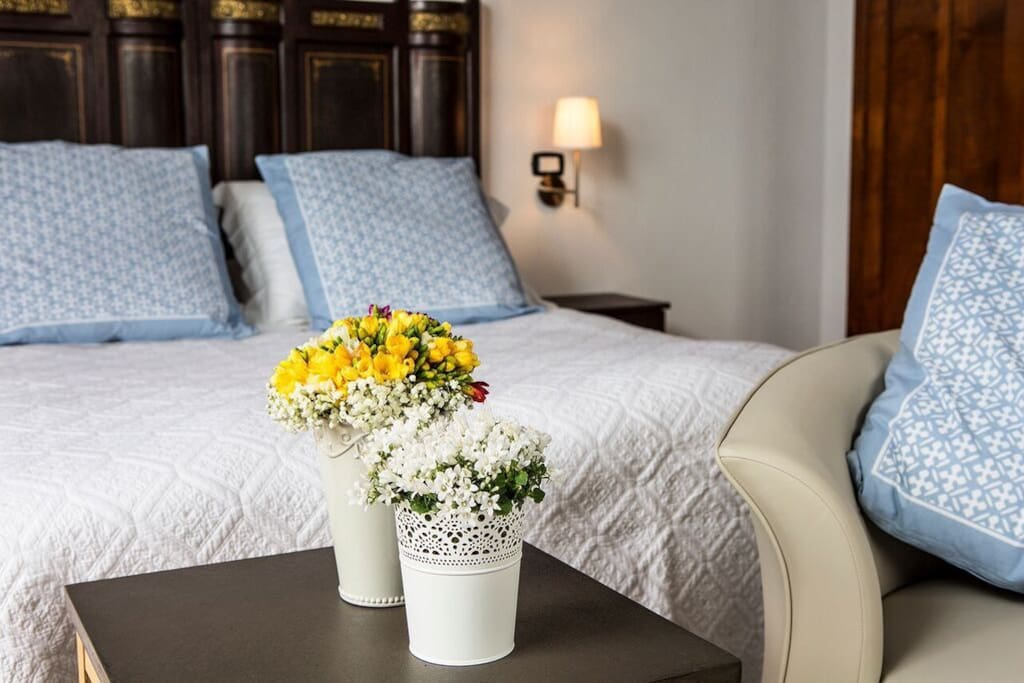 Egyptian cotton bedding and duck and feather toppers make our beds so luxurious you will never want to get out of them,