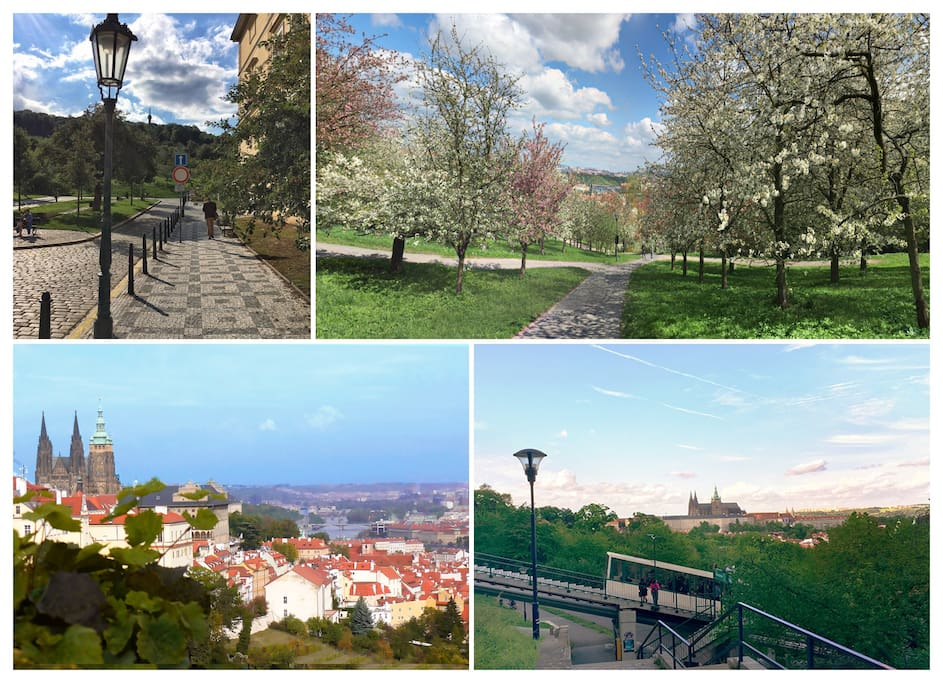 Petrin hill, which is just a few steps from the apartment offers some amazing views on the city and is easily accessible via a funicular from 1920s
