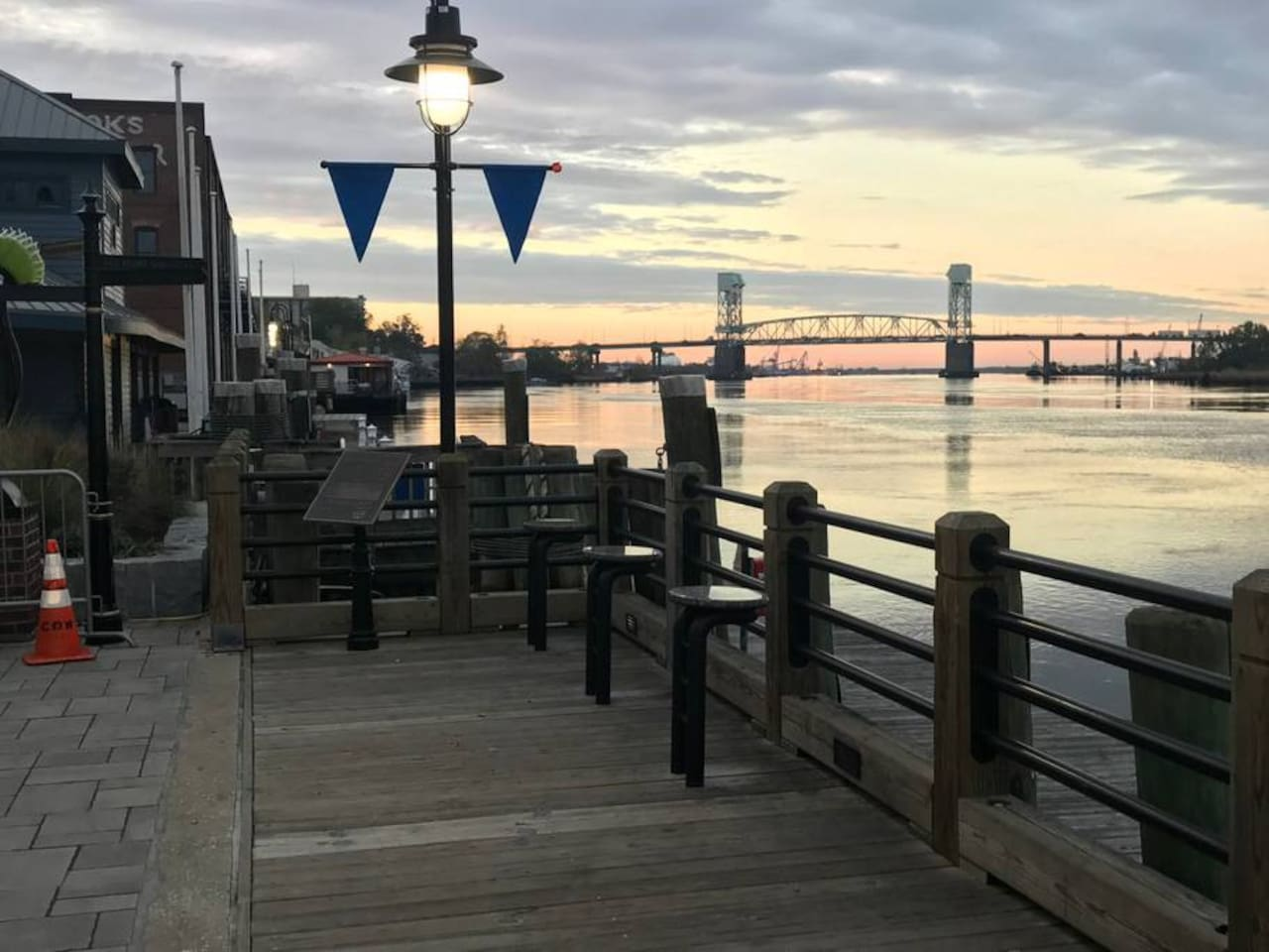 This Airbnb is 1 block from the historic riverfront