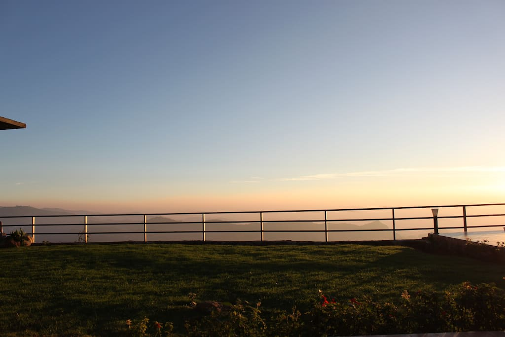 Wake up to a glorious sunrise
