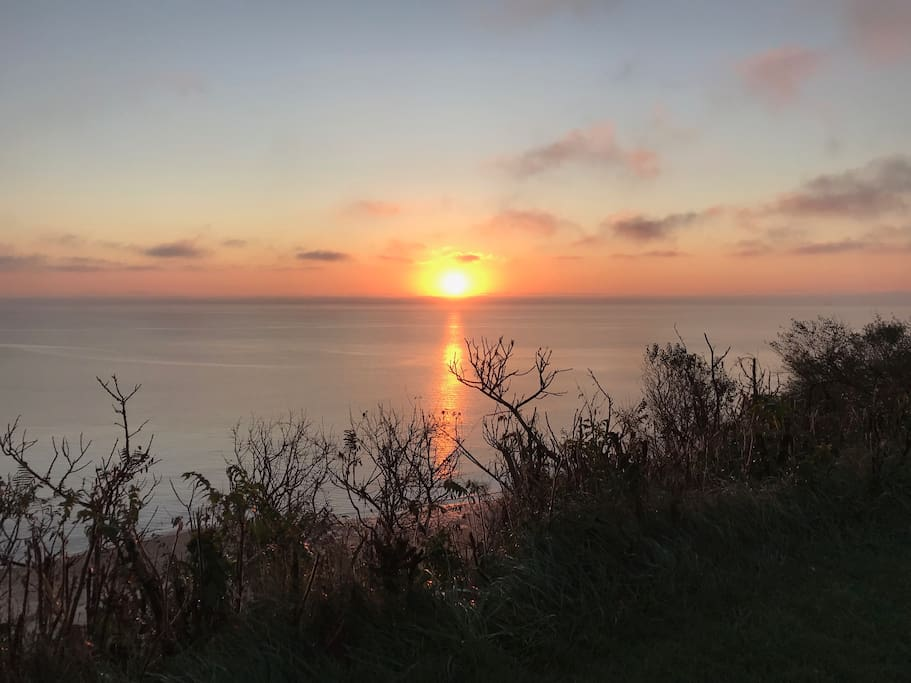 Sunrise over Cape Cod Bay