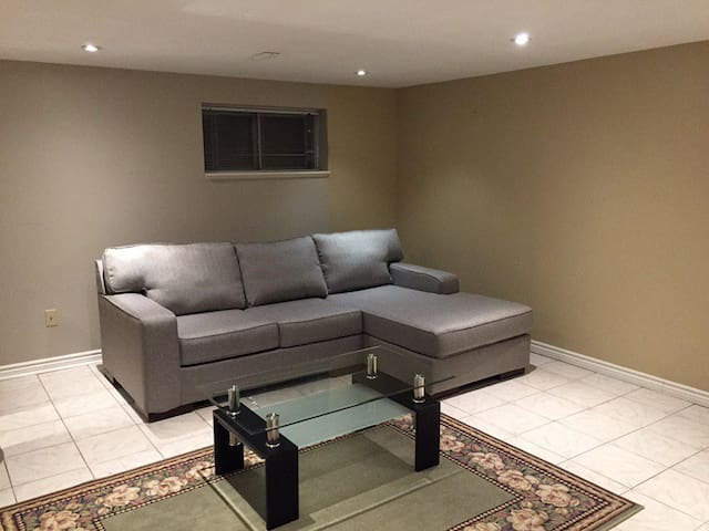 Basement for guests