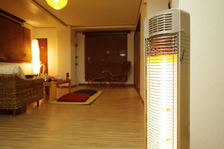 札幌中心すすきの。徒歩5分。徒歩で観光食事買物可能。広く日当り良好。和風&アジアン。WiFi
