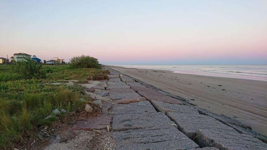 Gulf coast beach RV spot.  30x30 foot slab