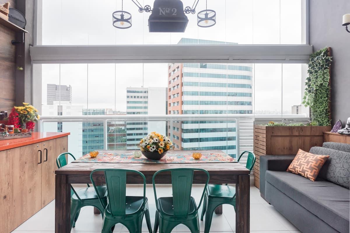 Take in Stunning Views Industrial Duplex near the Metro