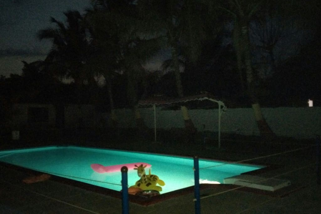 Treat for water babies as the pool is well lit and even more inviting as the sun sets