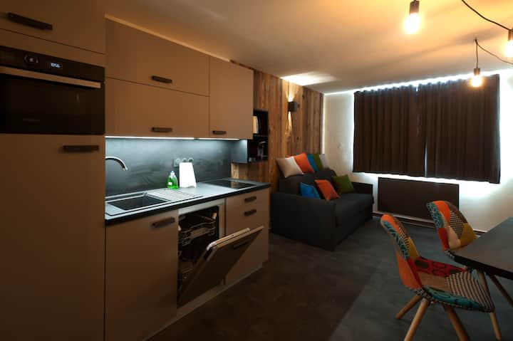 Cap neige avoriaz 4 pers 2 chambres standing centr