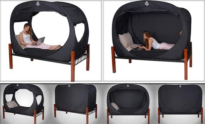 Privacy Tent inside Home