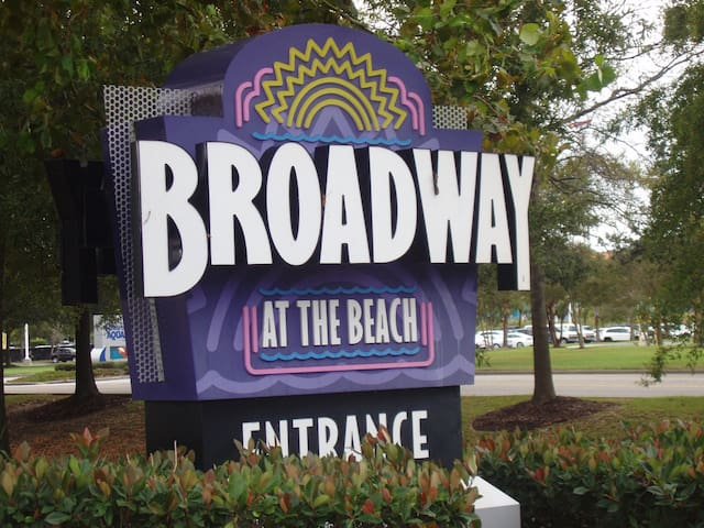 Broadway at the Beach has restaurants, rides, comedy club, nightlife...just one mile away.