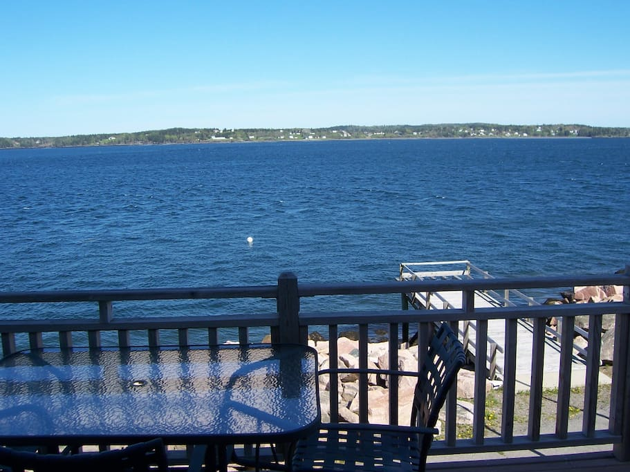 View from your deck to Campobello Island.