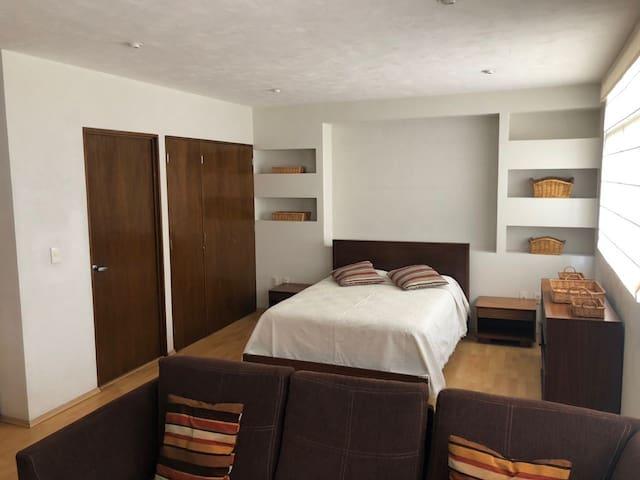 El espacio abierto y los costes permiten tener una estancia tipo Suite de cualquier hotel