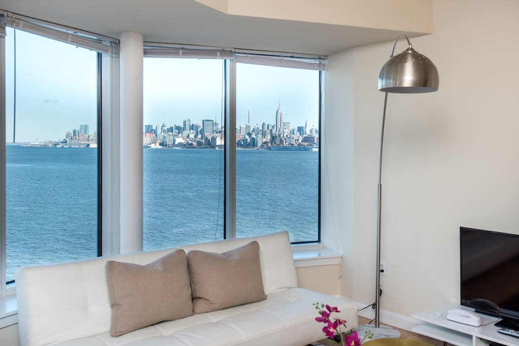 Fantastic view of the city from the living room