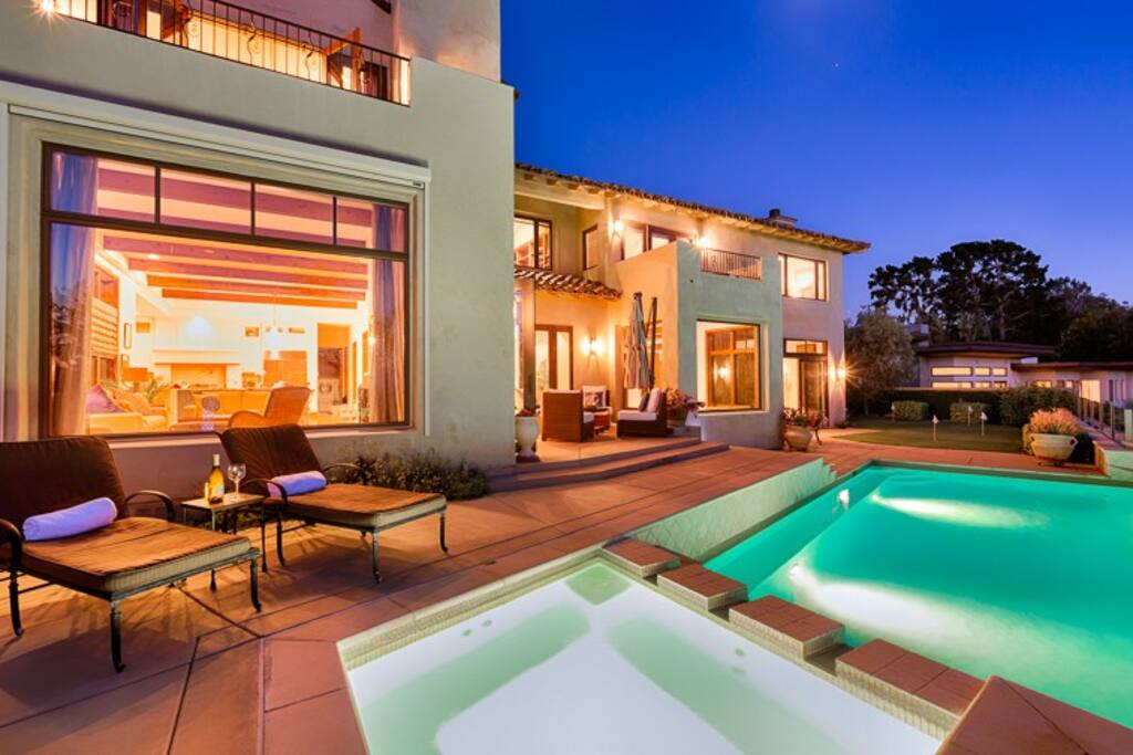 Imagine relaxing near your salt water pool and spa and enjoying the sunset.