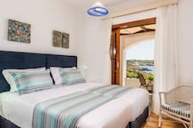 Sea View Bedroom with two single beds