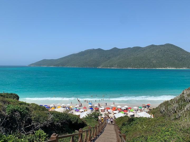 Ap a 300m da Praia Grande e ao lado Pontal